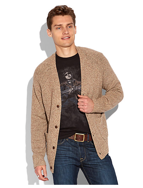 SLUB 2 POCKET CARDIGAN, MULTI
