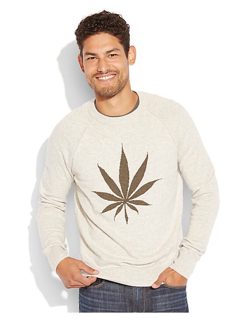 CANNABIS CREW INTARSIA, HEATHER GREY
