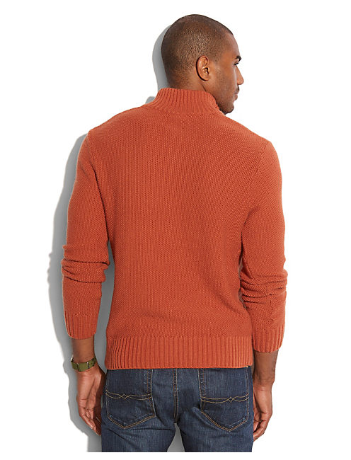 HEAVENLY HALF ZIP SWEATER, ARABIAN SPICE