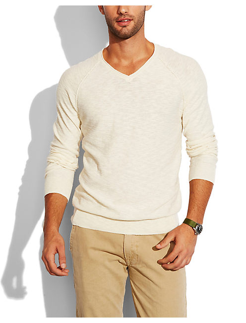 SUMMER V NECK SWEATER, MARSHMELLOW
