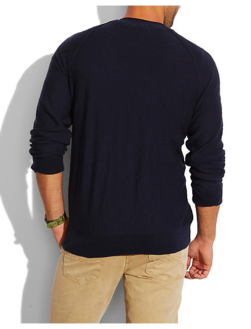 SUMMER V NECK SWEATER, AMERICAN NAVY