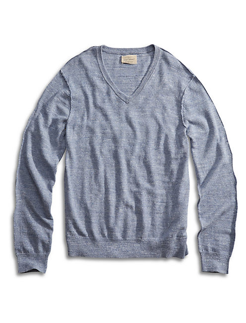 White Label Vneck Sweater, LIGHT BLUE
