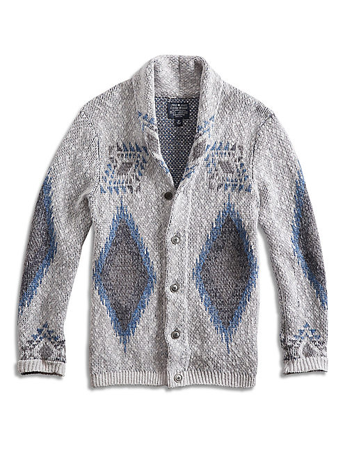 DIAMOND SHAWL CARDIGAN,