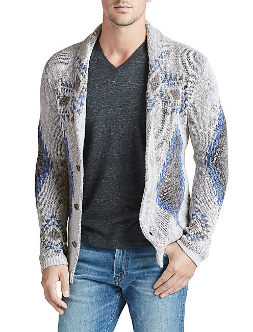 LUCKY DIAMOND SHAWL CARDIGAN