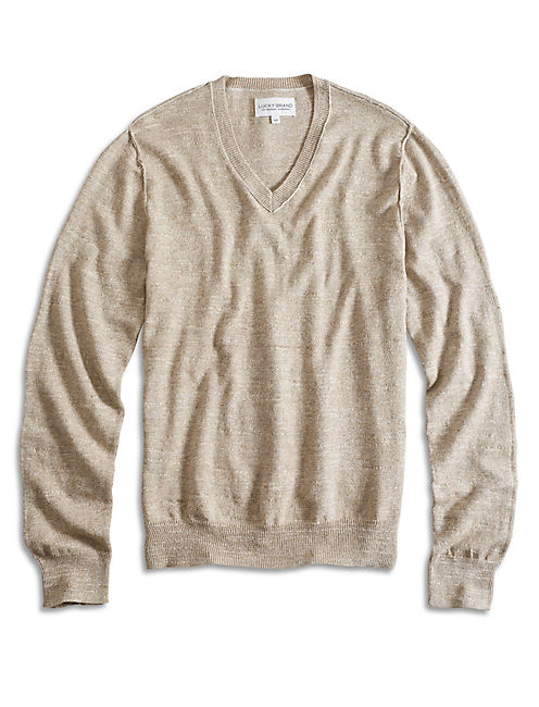 WHITE LABEL VNECK SWEATER,