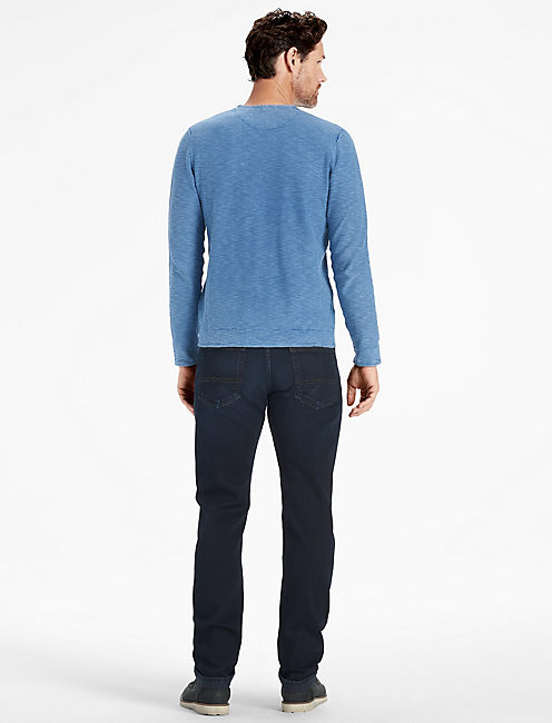 WELTERWEIGHT V NECK SWEATER, COBALT