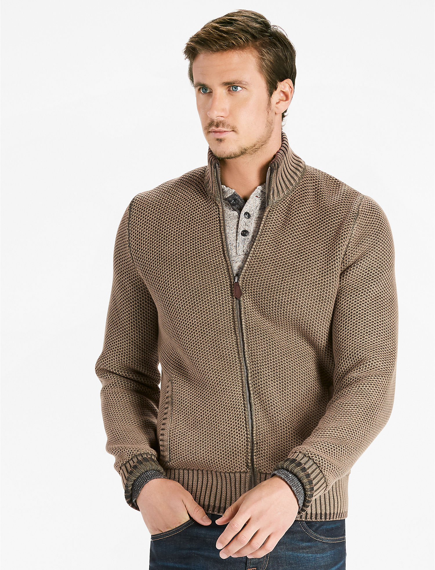 Mens Full Zip Sweater | Lucky Brand
