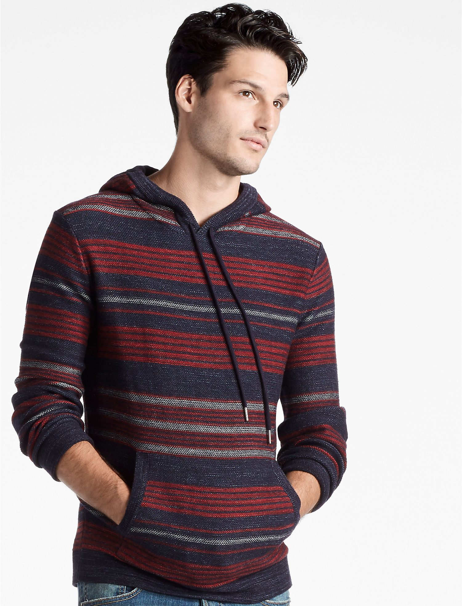 HERITAGE STRIPED HOODED SWEATER - Lucky Brand 2.0