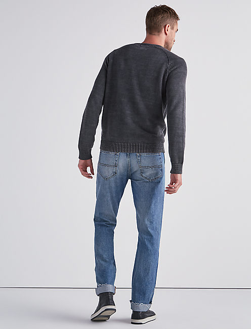 WASHED OUT NAVAJO PULL OVER, JET BLACK
