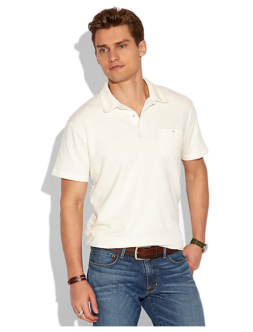 DOUBLE KNIT POLO, VINTAGE WHITE #1625