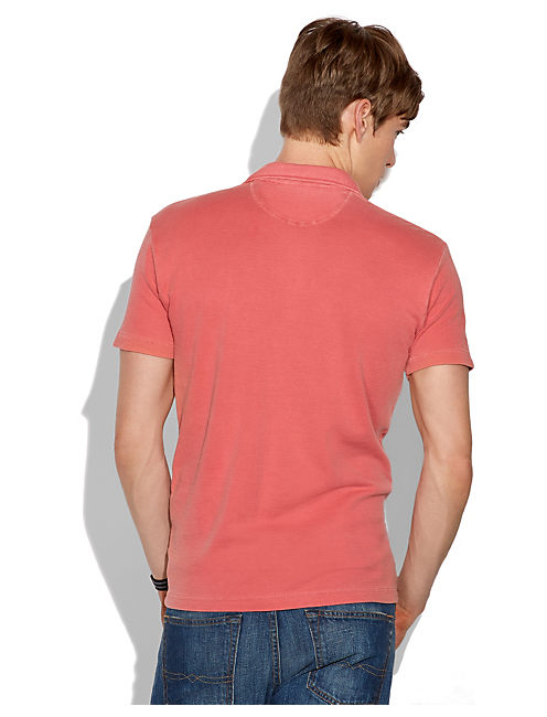 DOUBLE KNIT POLO, MINERAL RED