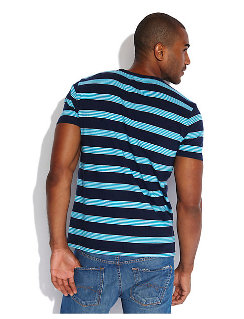 STRIPED POCKET CREW, NAVY COMBO