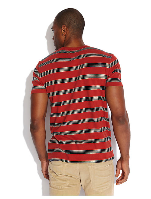 STRIPED POCKET CREW, MULTI