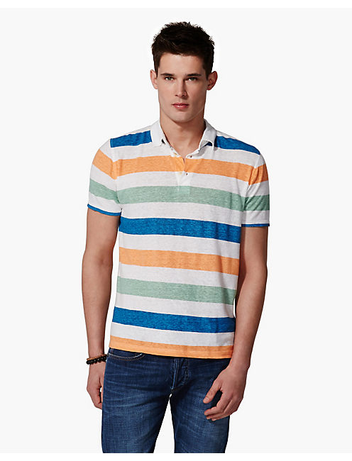 STRIPED PIPELINE POLO, MULTI