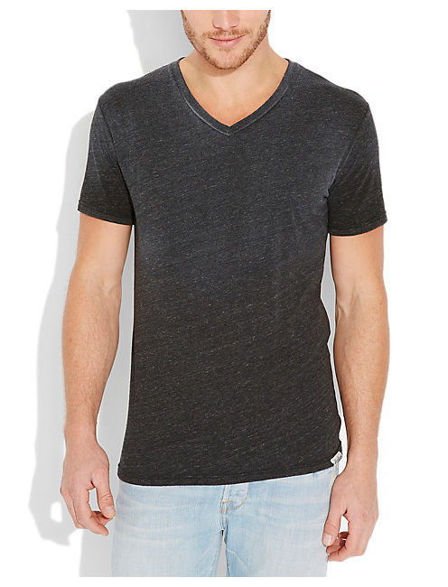 TRIBLEND V NECK, BLACK HEATHER