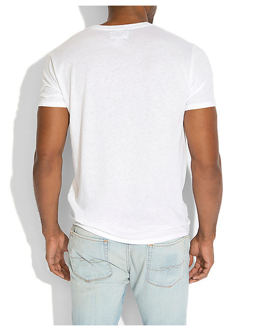 TRIBLEND V NECK, WHITE
