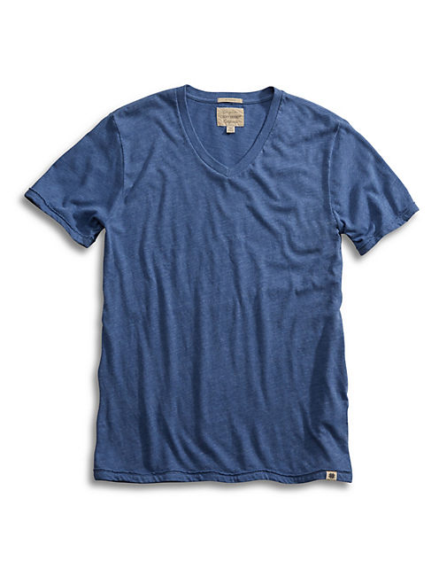 TRIBLEND V NECK, DUSTY BLUE