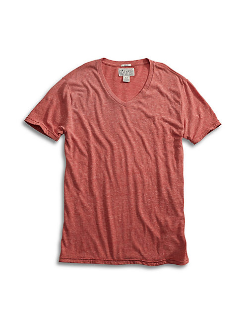 TRIBLEND V NECK, MINERAL RED