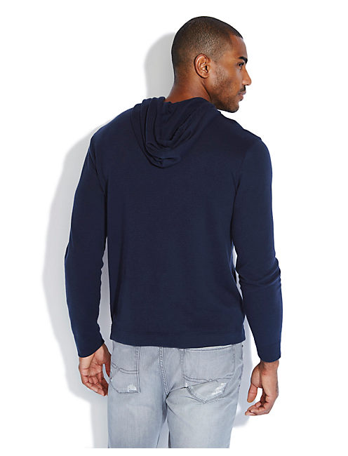 DOUBLE KNIT HOODIE, AMERICAN NAVY