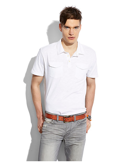 PACIFIC POLO, BRIGHT WHITE