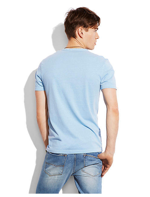 Y NECK HENLEY, DEL MAR BLUE