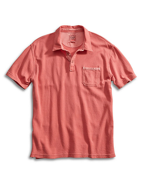 DOUBLE KNIT POLO, #6676 BAKED APPLE