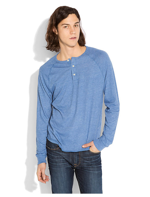 TRIBLEND LS HENLEY, DUSTY BLUE