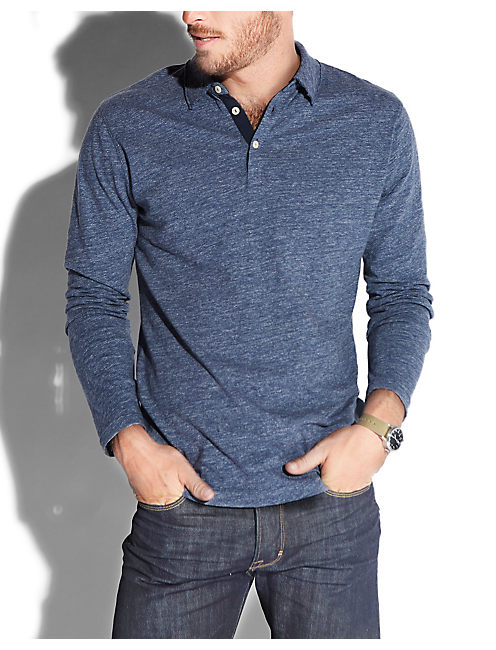 DRY DOCK POLO, NAVY HEATHER