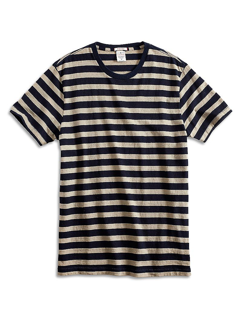 Lucky Brand Bold Stripe Indigo Mens $11.99 AT vintagedancer.com