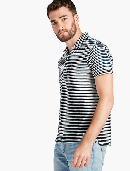 INDIGO STRIPED POLO,