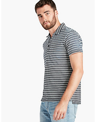 LUCKY INDIGO STRIPED POLO