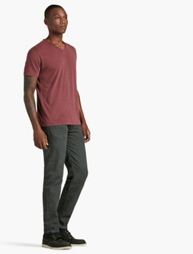 LUCKY ROLLED V NECK TEE