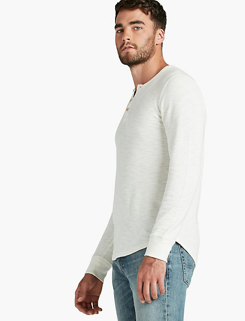 LIVED IN THERMAL HENLEY, MARSHMALLOW