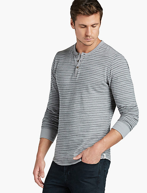LIVED IN STRIPE THERMAL HENLEY,
