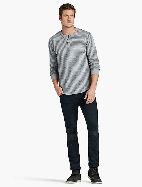 Lucky Lived In Stripe Thermal Henley