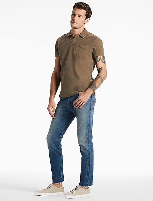 Lucky Short Sleeve Johnny Collar Polo