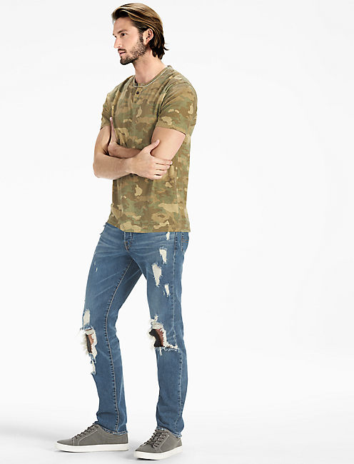 LUCKY ALL OVER CAMO NOTCH TEE