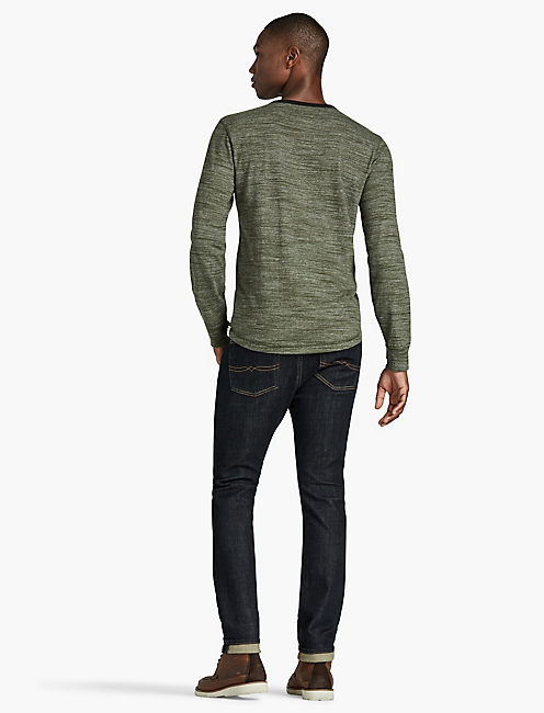 HUNTINGTON HENLEY, MILITARY OLIVE #19-0622TCX