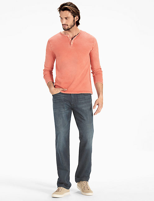 SUN FADE HENLEY, 636 RED