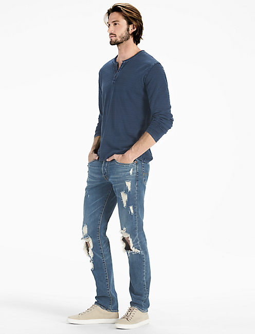 Lucky Rough Edge Indigo Henley