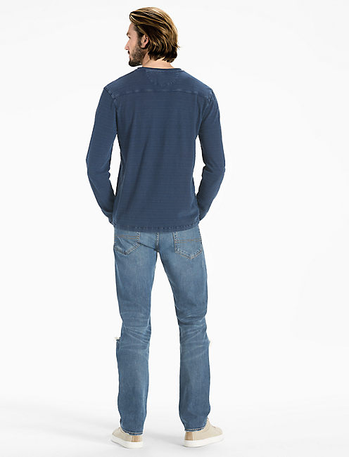 ROUGH EDGE INDIGO HENLEY,