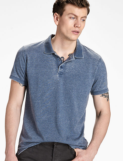 VENICE BURNOUT POLO, AMERICAN NAVY