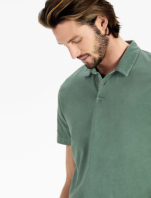 SUEDED POLO,