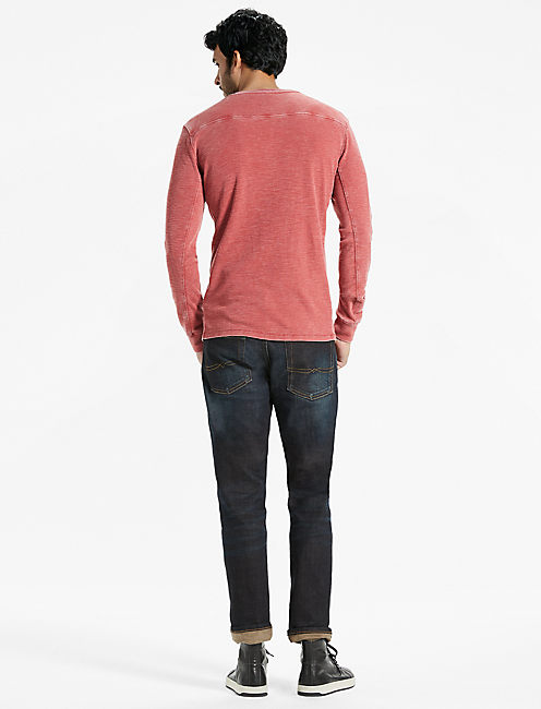 VENICE BURNOUT THERMAL HENLEY,