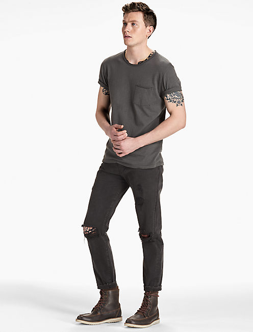 1 POCKET CREW TEE, BLACK MOUNTAIN