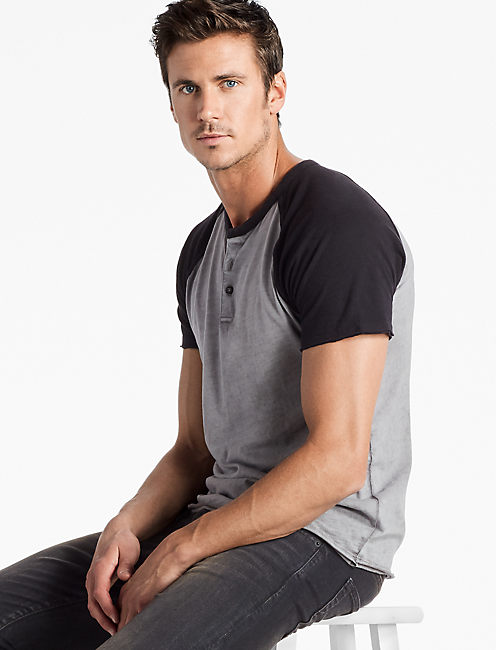 BASEBALL HENLEY, JET BLACK