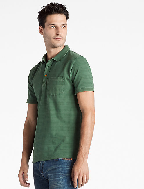 JAMES STRIPE POLO SHIRT, CILANTRO