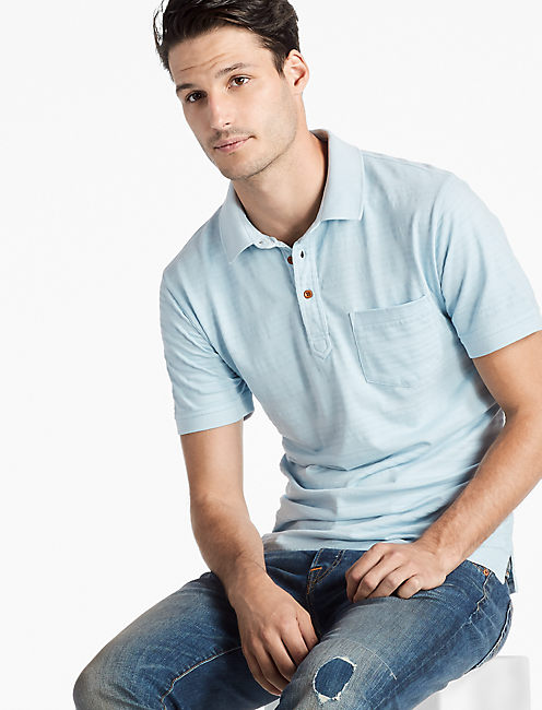 JAMES STRIPE POLO SHIRT, ANGEL FALLS