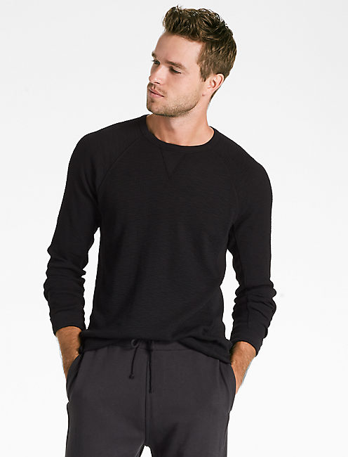 STRONG BOY THERMAL CREW, JET BLACK