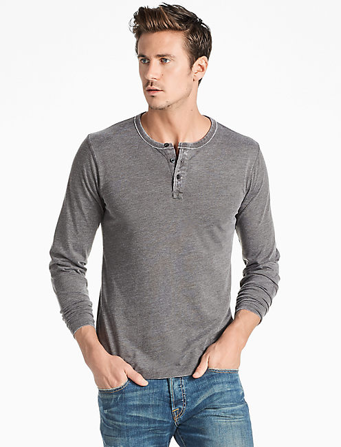 VENICE BURNOUT HENLEY, BLACK MOUNTAIN